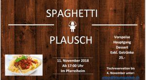 Spaghettiplausch 2018